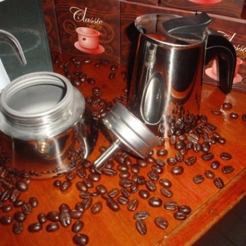 Foto Produk Moka Pot (Moka Express) 4 Cup STAINLESS dari D' ESPRESSO