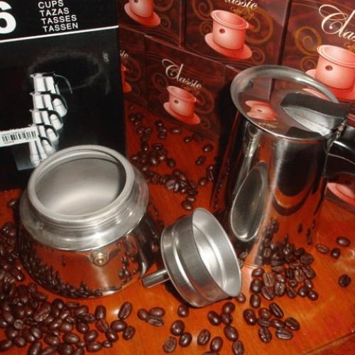 Foto Produk Moka Pot (Moka Express) 6 Cup STAINLESS dari D' ESPRESSO