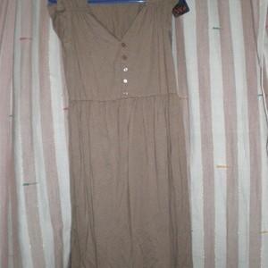 Foto Produk knit dress solid brown dengan leher V dari lovely carmel
