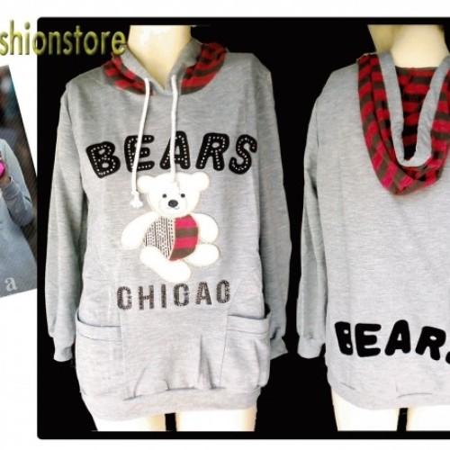 Foto Produk Cutie Bear Hoodie - Color: GREY dari Herfashionstore