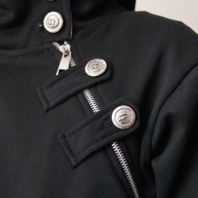 Foto Produk Buckle Korean Hoodie Jacket - BLACK dari Clubkaos
