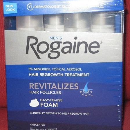 Foto Produk Rogaine Foam Minoxidil 5% Penumbuh Rambut Untuk Kebotakan Pria (Hair Regrowth For Men) FDA Approved dari Albhen's Store