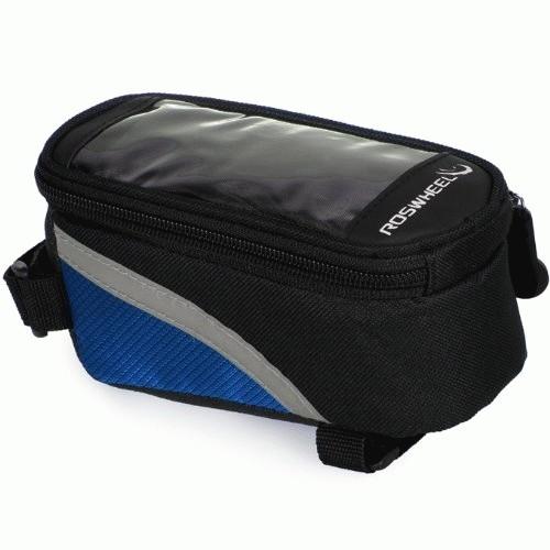 Foto Produk Bicycle Frame Pannier Front Tube Bag For Cell Phone  (biru) dari Pernik Sepeda