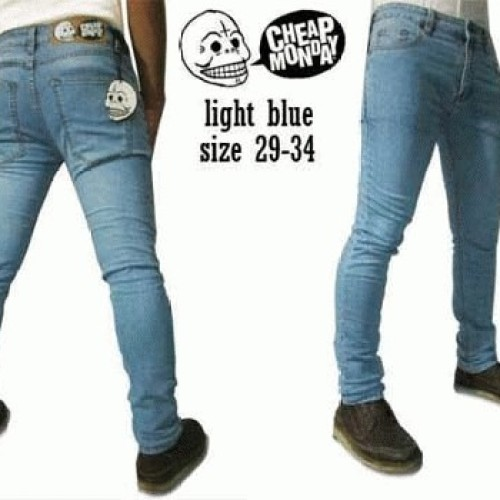 Foto Produk Celana Jeans CheapMonday Light blue dari Anza Shop