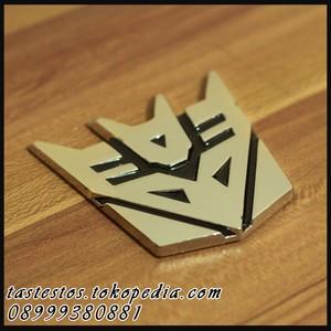 Foto Produk Emblem Transformers Stainless ( Pattern Decepticon ) dari TasTesTos