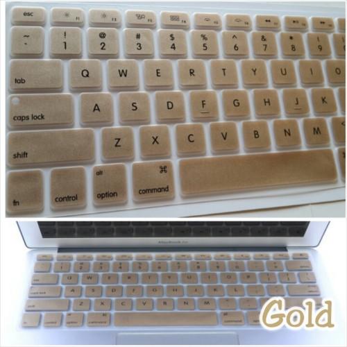 "Foto Produk Silicone Keyboard Protector / Cover GOLD for Macbook 13"" & 15"" dari RajAppleCom"
