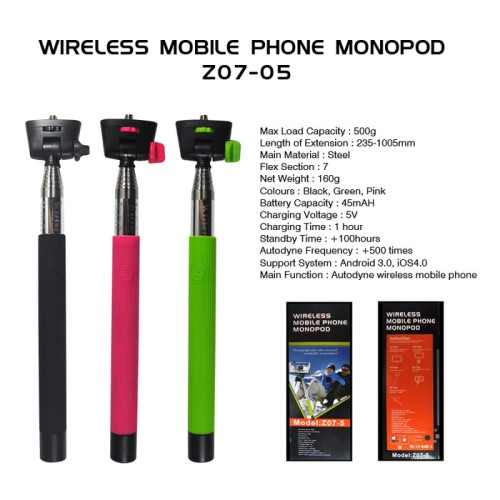 Foto Produk Tongsis Monopod Bluetooth KJSTAR Z07-5 dari Elenna-Store
