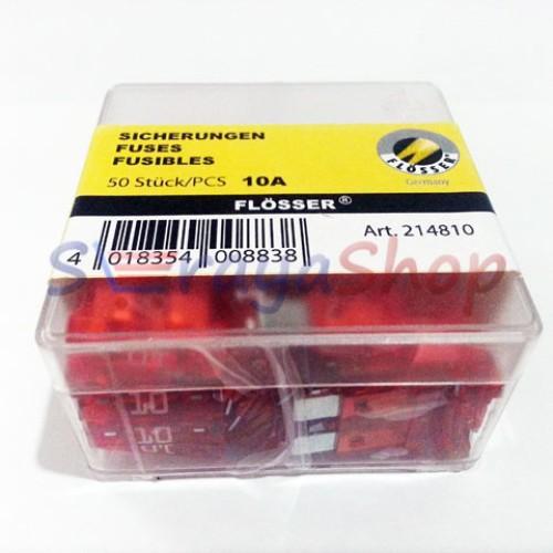 Foto Produk Sekring / Fuse Blade (DX) 10A (Merah) Flosser dari Seraya Shop