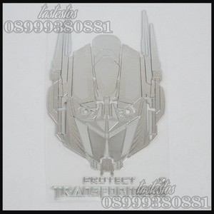 Foto Produk Sticker Alumunium Transformers ( Pattern Optimus Prime ) dari TasTesTos
