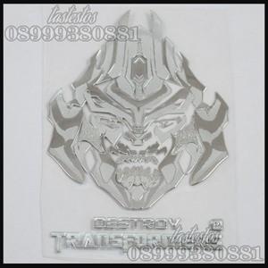 Foto Produk Sticker Alumunium Transformers ( Pattern Megatron ) dari TasTesTos
