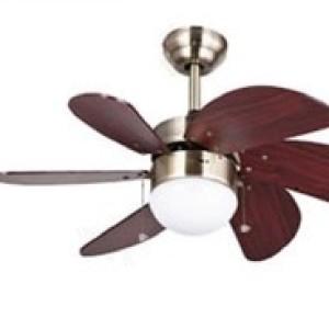 Foto Produk Ceiling Fan Lampu Hias MT.Edma 30IN Pilot Kipas Angin Plafon Dekorasi Hitam dari Utama Mega Elektrik
