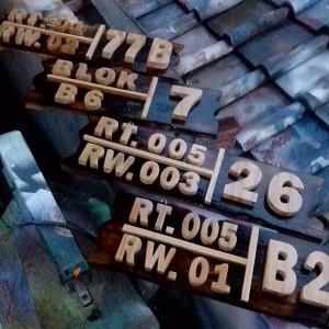 Foto Produk Nomor Rumah RT/RW dari Wooden Shape