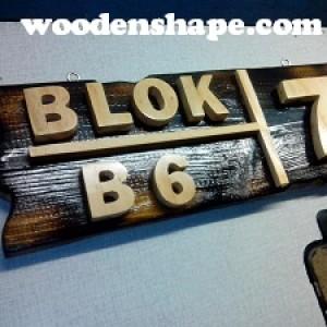 Foto Produk Blok Nomor rumah dari kayu dari Wooden Shape