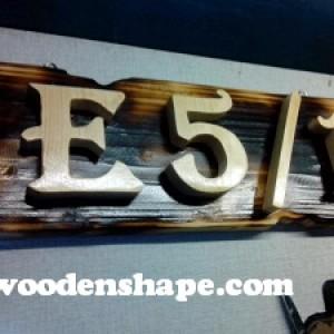 Foto Produk Nomor Rumah Standard dari Wooden Shape