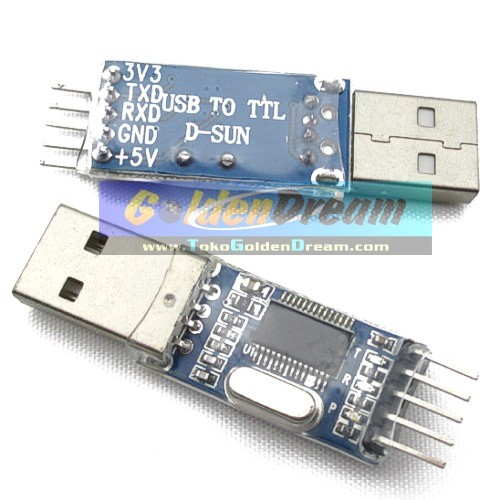Foto Produk Converter USB to TTL Serial Module Modul Konverter dengan chip PL2303HX Prolific 2303HX dari Golden Dream