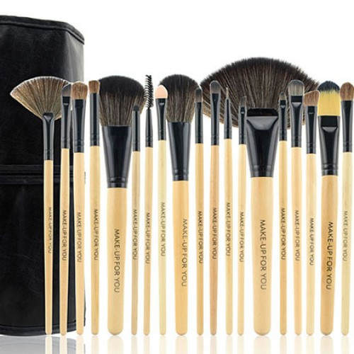 Foto Produk Brush SET Makeup for you / Make up for you Bamboo 24pcs - For Professional need - HIGH Quality Brush, SUPER Halus dari twindshop