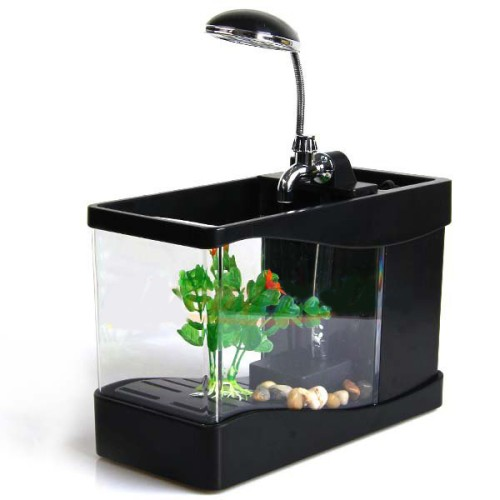 Foto Produk USB Mini Aquarium Wonderful Life - Lileng-918 - Black dari Butland Shop