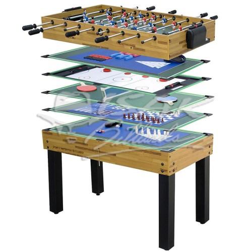 Foto Produk 11-in-1 Mini Game Table - Mainan Hadiah Anak Meja Pool Billiard Soccer dari ISAK Billiard Sport Co.