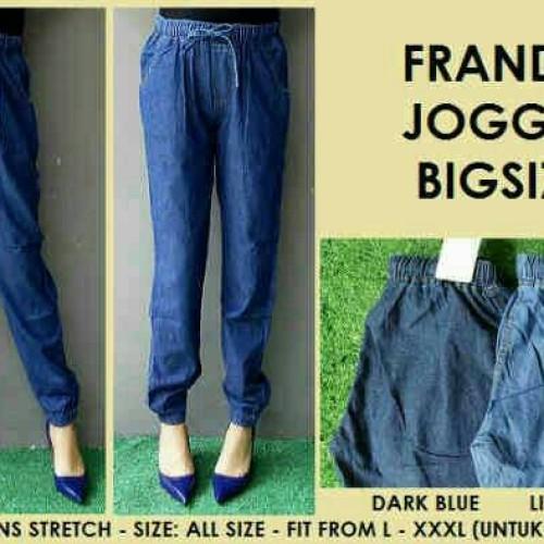 Foto Produk celana jogger/joger jeans bahan katun ukuran besar jumbo cewe wanita dari Radityacolection