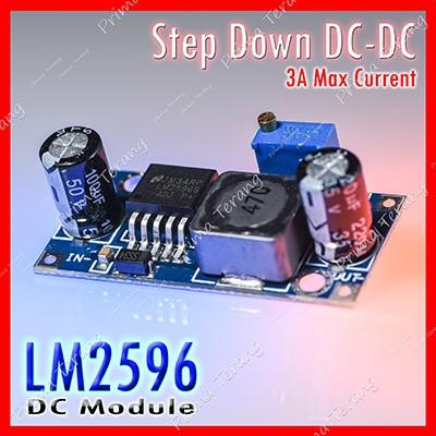Foto Produk LM2596 Step Down DC-DC Adjustable Modul Penurun Tegangan DC LM-2596 dari Prima Terang