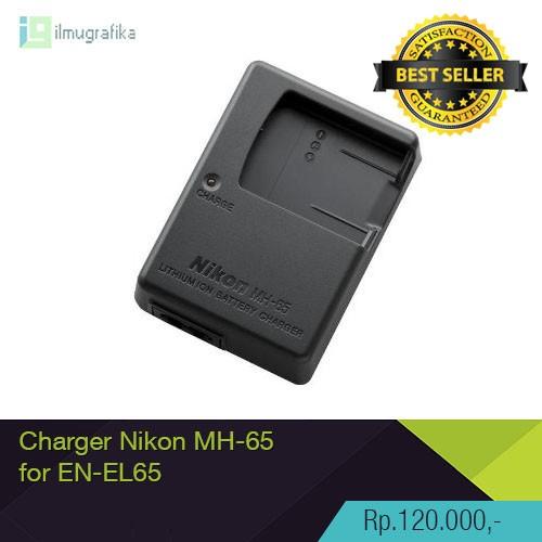 Foto Produk Charger Kamera Nikon MH-65 untuk Baterai Nikon EN-EL12 HIGH QUALITY! dari ilmu grafika