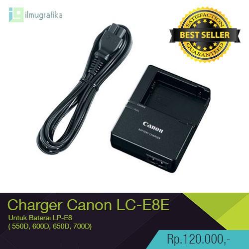 Foto Produk Charger Canon LC-E8E untuk Baterai LP-8E | 500D, 550D, 600D, 650D 700D dari ilmu grafika