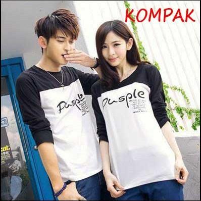 Foto Produk Kaos Couple Pusple LP dari Agen Kaos Couple Jakarta
