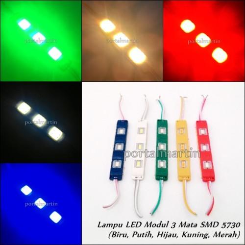 Foto Produk Lampu LED Modul 3 Mata Tipe SMD 5730 (Waterproof) dari Portal Martin