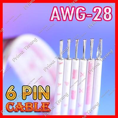 Foto Produk Kabel Pita 6 Pin Flat 6 Jalur Pelangi Cable 6Pin dari Prima Terang