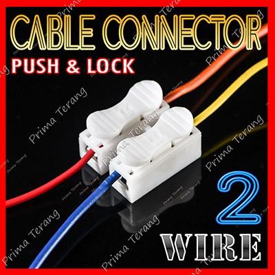 Foto Produk Quick Cable Connector 2 Pin Konektor Kabel Mudah 2P Wire dari Prima Terang