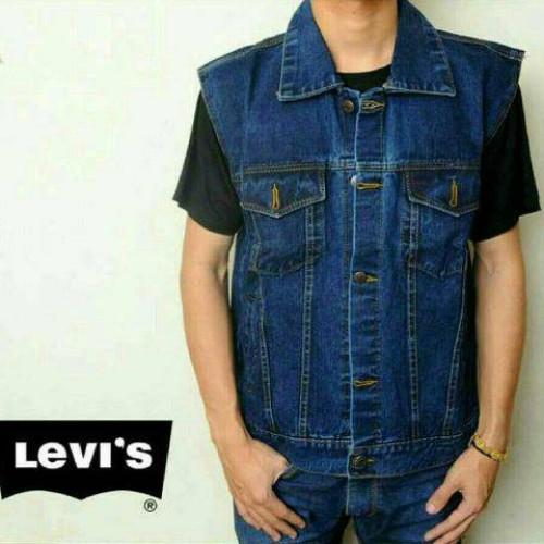 Foto Produk Jaket Rompi Jeans Pria Biru Tua/Biowosh (M,L&XL) - Biru Muda, XL dari Octavia wijaya