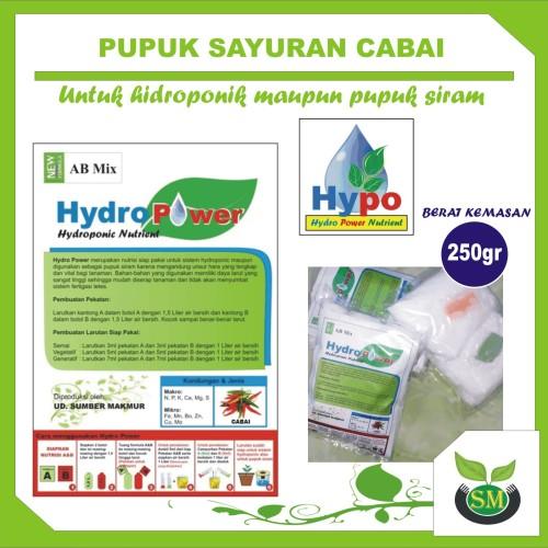 Foto Produk Pupuk Hidroponik AB Mix 250 Gram (Cabai) dari Sumber Makmur (SM)