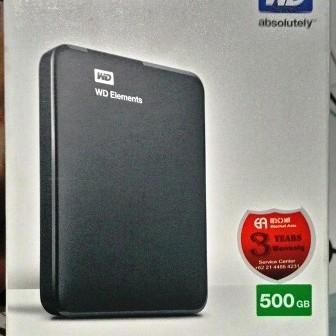 Foto Produk Harddisk External WD Elements Portable 500Gb Hdd Eksternal 500Gb dari A4T Computer
