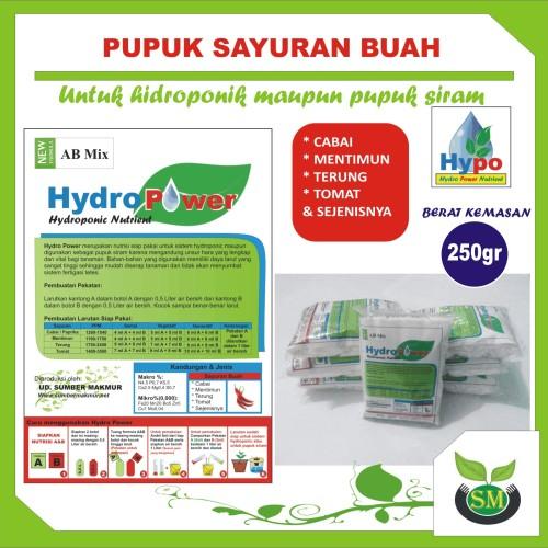 Foto Produk Pupuk Hidroponik AB Mix 250 Gram (Sayuran Buah) dari Sumber Makmur (SM)