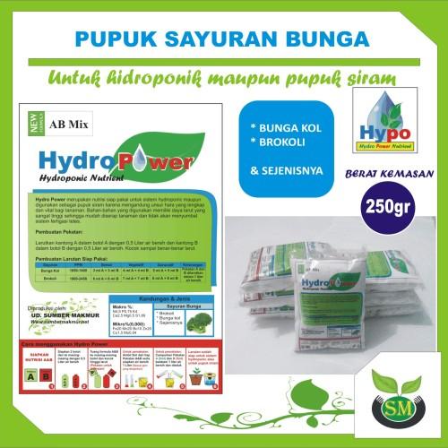 Foto Produk Pupuk Hidroponik AB Mix 250 Gram (Sayuran Bunga) dari Sumber Makmur (SM)