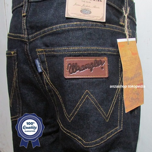 Foto Produk Celana Jeans Branded Wrangler Standar/Regular BlueBlack 33-38 CO dari Anza Shop