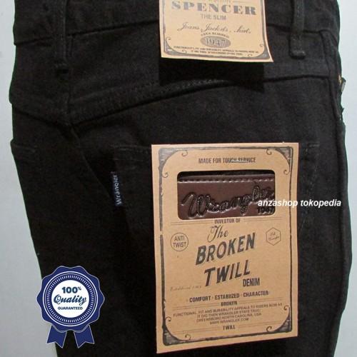 Foto Produk Celana Jeans Branded Wrangler Standar/Regular Hitam 33-38 CO dari Anza Shop