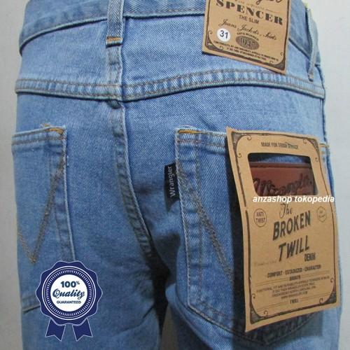 Foto Produk Celana Jeans Branded Wrangler Standar/Regular Bioblitz 27-32 CO dari Anza Shop