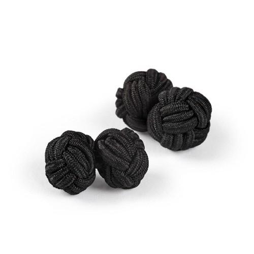 Foto Produk Silk Knot Black Cufflink - Hitam dari House of Cuff