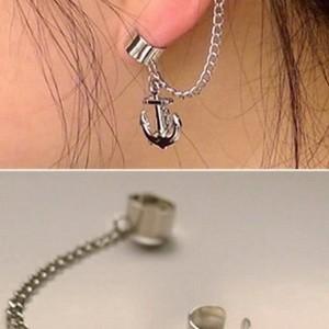 Foto Produk EE0073 - earrings / giwang / anting jepit rantai tanpa tindik jangkar dari Anneui Shop