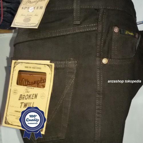 Foto Produk Celana Jeans Branded Wrangler Standar/Regular Coklat 33-38 CO dari Anza Shop