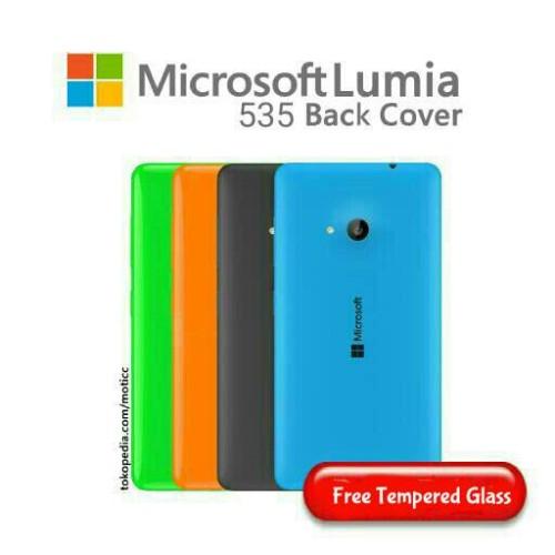 Foto Produk Back Cover Case Microsoft Lumia 535 + Bonus Tempered Glass (PREMIUM) dari Moticc