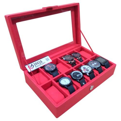 Foto Produk TEMPAT JAM TANGAN   WATCH BOX   BOX JAM TANGAN FULL MERAH dari Jogja Crafts