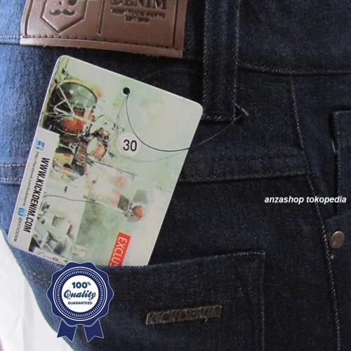 Foto Produk Celana Jeans Branded Kick Bandung Pensil/Skinny/Streach BlueBlack CO dari Anza Shop
