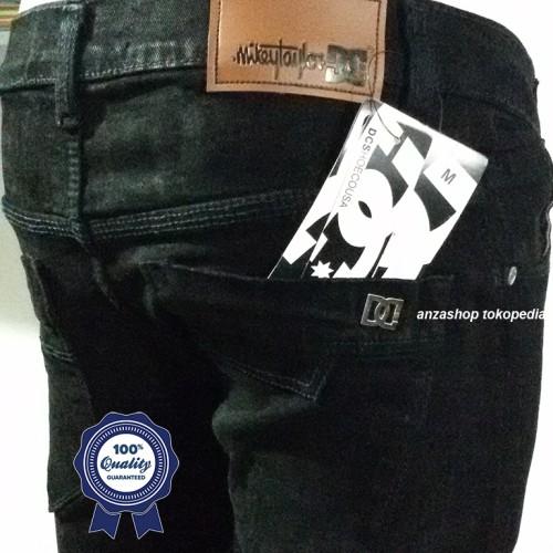 Foto Produk Celana Jeans Branded DC Bandung Pensil/Skinny/Streach Hitam CO dari Anza Shop