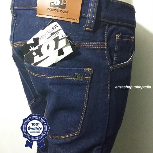 Foto Produk Celana Jeans Branded DC Bandung Pensil/Skinny/Streach BlueBlack CO dari Anza Shop