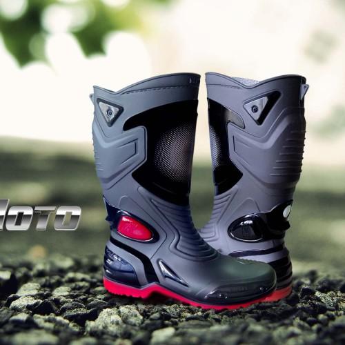 Foto Produk Sepatu Karet PVC Anti Tembus Air Banjir Hujan AP BOOTS MOTO 3 MOTO3 - Hitam, 38 dari lbagstore