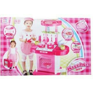 Foto Produk Kichen set koper pink dari mom_kidtoys