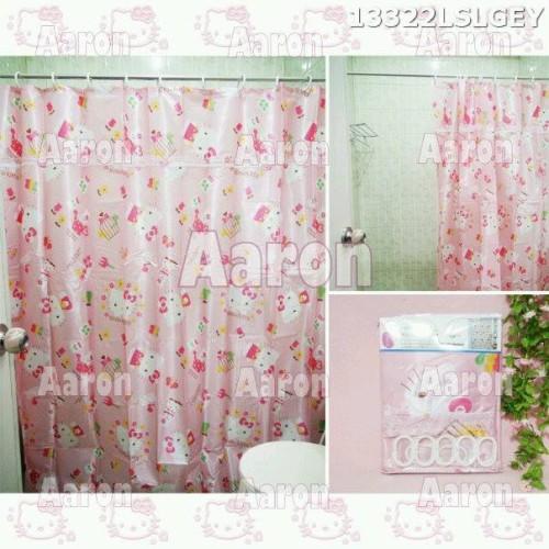 Foto Produk TIRAI KAMAR MANDI/Shower Curtain HELLO KITTY dari aaron kitty shop