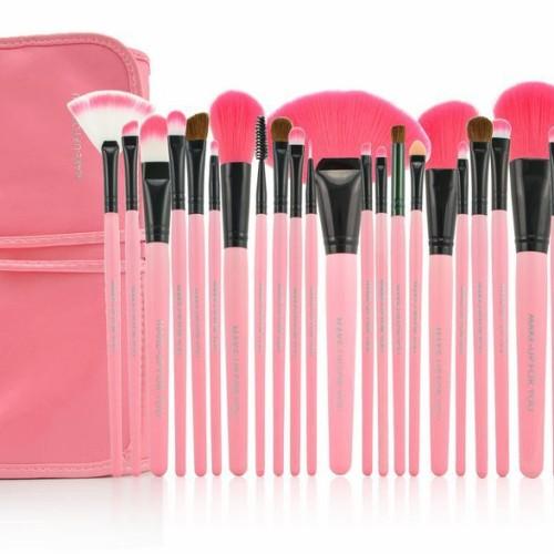 Foto Produk Brush SET Makeup for you / Make up for you Bamboo 24pcs - PINK Halus dari twindshop